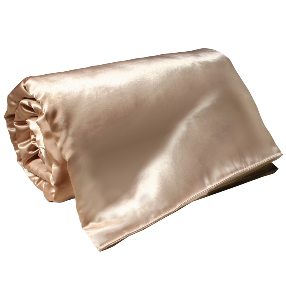 亞曼達Amanda 絲光晶漾緞面涼被-晶鑽金