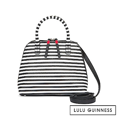 LULU GUINNESS BOBBI 手提/側背包-條紋