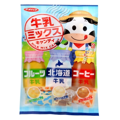 Amehama製果 牛乳3風味糖(80g)