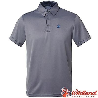 Wildland 荒野 0A61606-90灰色 男咖啡紗抗菌Polo上衣