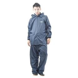 達新牌 男挺麗型兩件式雨衣(沉穩藍)
