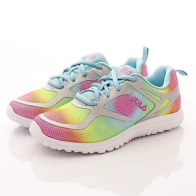 FILA 頂級童鞋 彩虹慢跑鞋款 17R777彩虹(大童段)T2