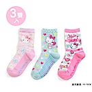 Sanrio HELLO KITTY 3入兒童短襪16-18cm(雛菊小花)