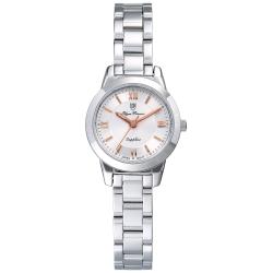 Olym Pianus 奧柏表 微甜馬卡龍時尚石英腕錶-白/24mm