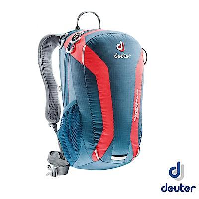 【德國 Deuter】Speed Lite 15L 輕量級透氣健行登山背包_深藍/紅