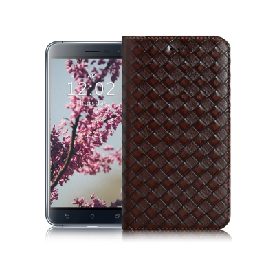 X mart ASUS ZenFone 3 5.2吋 魔幻編織磁吸支架皮套
