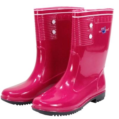 omax台製女用彩色雨鞋
