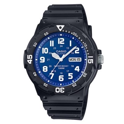 CASIO潛水風尚DIVERLOOK運動錶(MRW-200-2B2)黑X藍面/47.9mm