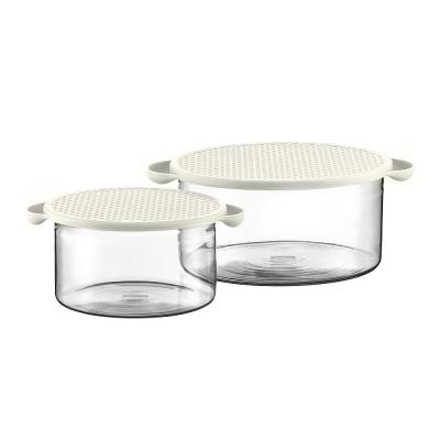 丹麥BODUM玻璃微波/烤箱烹飪鍋組(附蓋)1L/2.5L (兩色可選)