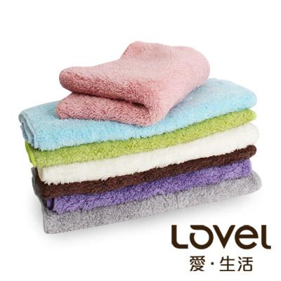 LOVEL 7倍強效吸水抗菌超細纖維毛巾6入組(共9色)
