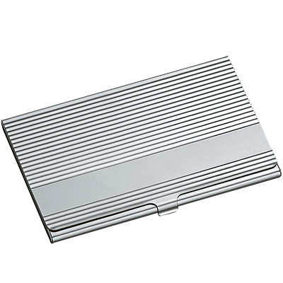 REFLECTS 橫紋鋁名片盒