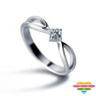彩糖鑽工坊 深情Ⅱ系列 9分鑽石戒指 四爪鑽戒