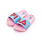 FILA KIDS 中童MD運動拖鞋-粉藍2-S431S-535