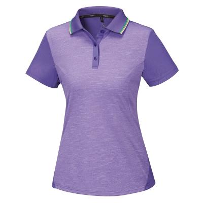 【ATUNAS 歐都納】ATUNAS-TEX女排汗短POLO衫A-P1707W紫