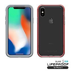 LIFEPROOF iPhone X專用 吸震抗衝擊防摔手機殼-SLAM(灰橙)