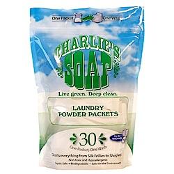 查理肥皂Charlie s Soap 洗衣粉即溶隨身包 (30包入)一袋裝