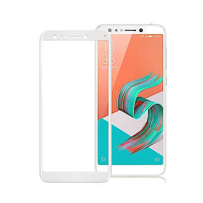 Xmart 華碩 ZenFone 5Q ZC600KL 超透滿版 2.5D 鋼化玻璃貼-白