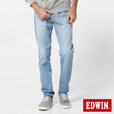 EDWIN 503基本五袋小直筒牛仔褲-男-重漂藍