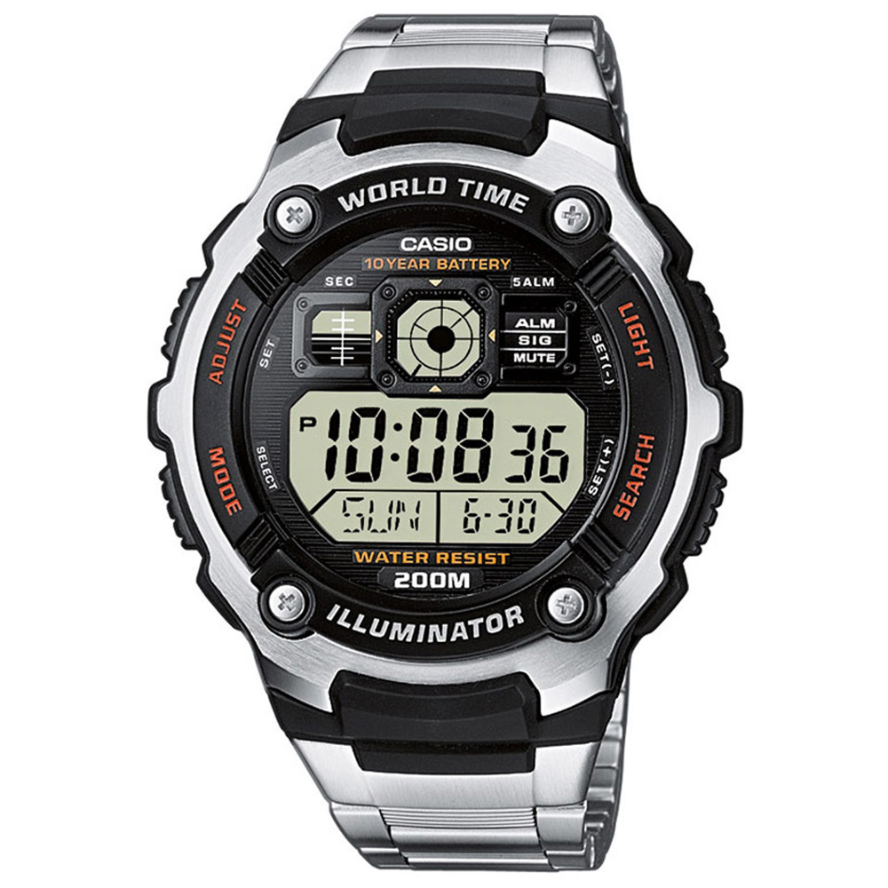 CASIO 深海潛將數位電子不銹鋼錶(AE-2000WD-1A)