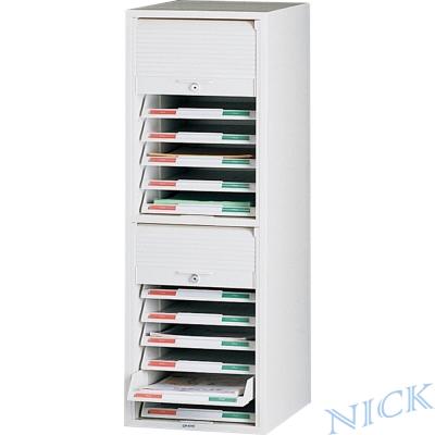 【NICK】CP單排塑鋼捲門式公文櫃_十四抽