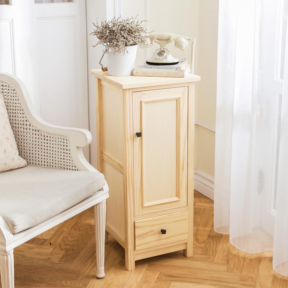CiS自然行實木家具 收納櫃-原木瓶罐收納櫃(水洗白色)