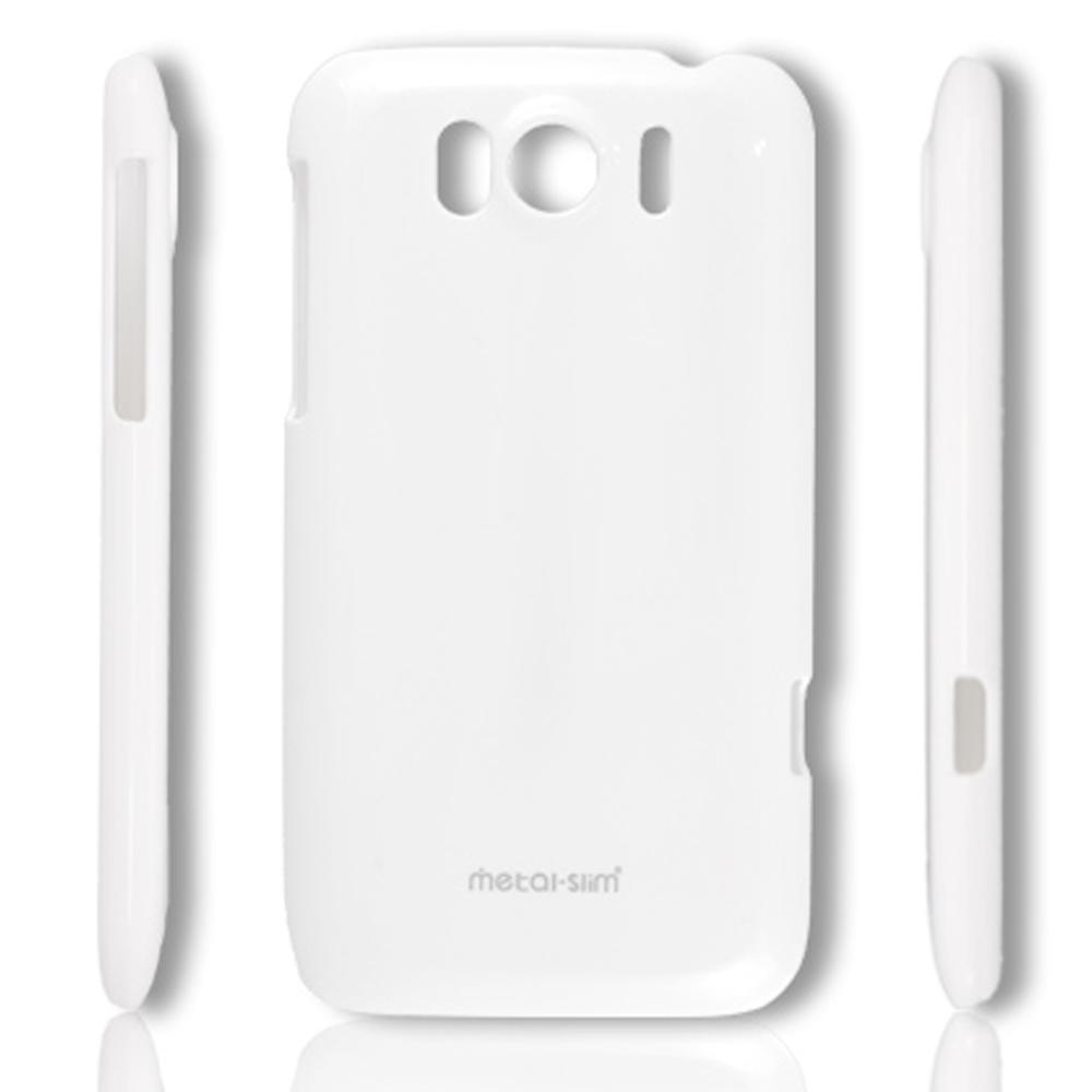 Metal-Slim HTC Sensation XL 保護殼 彩色系列 時尚白