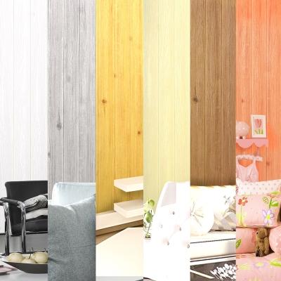 韓國3D立體DIY仿木紋壁貼/仿檜木紋壁貼_單捲 (6色任選)
