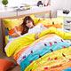 台灣製MIT濱川佐櫻三件式法蘭絨兩用毯雙人床包組