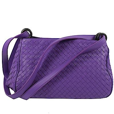 BOTTEGA VENETA編織肩背斜揹兩用粽子包(紫)