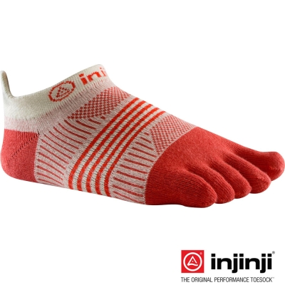 【Injinji】RUN 女性輕量吸排五趾隱形襪-橘色