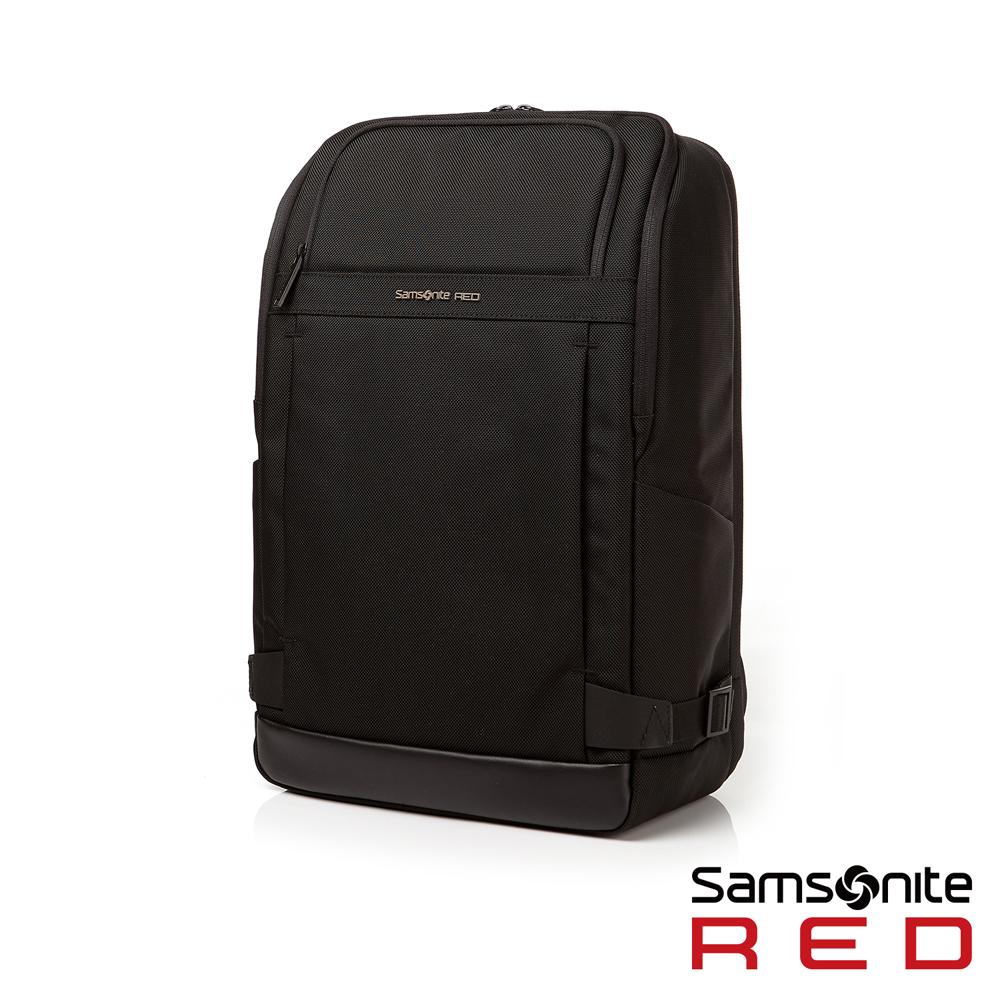 Samsonite RED  DAAON  多功能夾層中性筆電後背包15.6吋(黑)