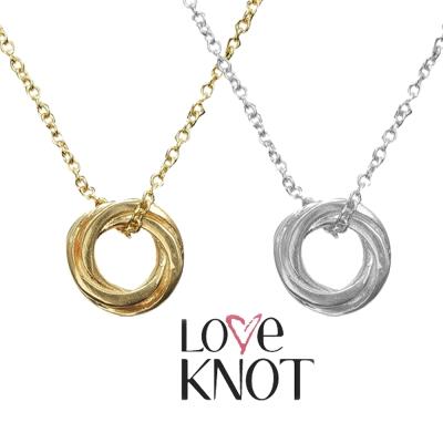 Dogeared Love Knot 永結同心圓純銀14K金 18吋許願項鍊 對組附原廠盒