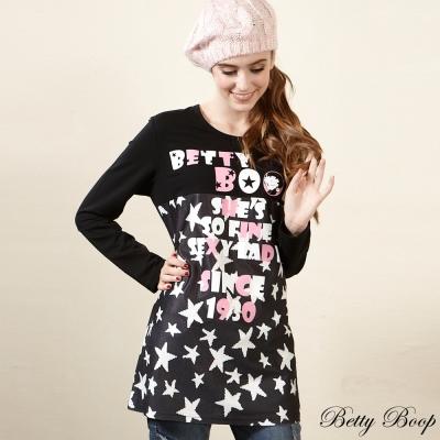 Betty Boop貝蒂星星字母大圖拼接棉質上衣(共二色)
