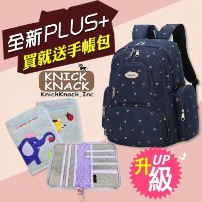 YABIN台灣總代理大容量後背媽媽包+KNICK KNACK防潑水手帳包組