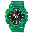G-SHOCK炫染大理石紋潮汐月相衝浪運動錶(GAX-100MB-3A)綠X黑面51.2mm