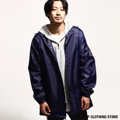 防潑水長版教練夾克 日本男裝