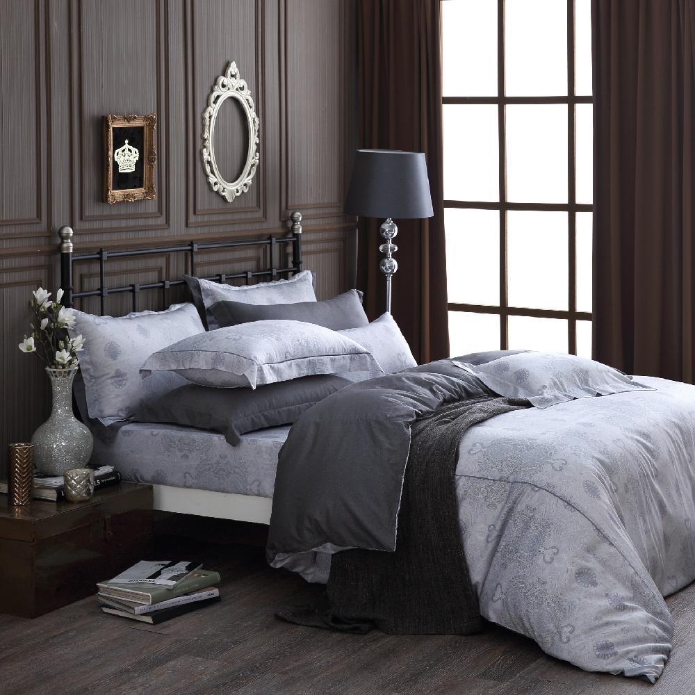 OLIVIA   Alexander 銀灰  加大雙人床包兩用被套四件組   棉天絲系列