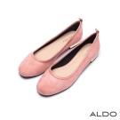 ALDO 法式輕甜圓頭粗跟鏡面娃娃鞋~亮粉紅色