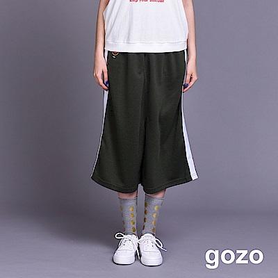 gozo 運動風配色邊條九分褲(二色)