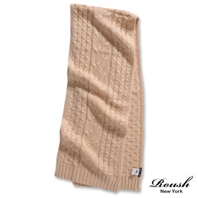 ROUSH-粗針麻花高磅數混羊毛圍巾-4色