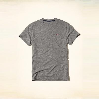 Hollister 經典海鷗刺繡圓領短袖T恤-灰色 HCO