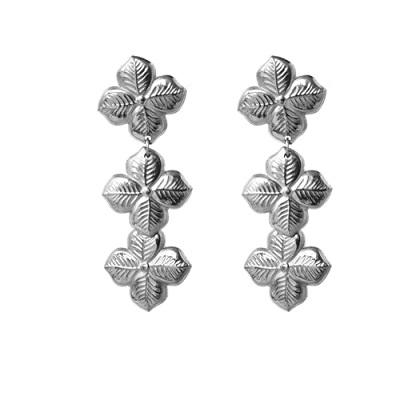 Anna Lou OF LONDON 倫敦品牌 優雅風信子hyacinth花朵銀耳環