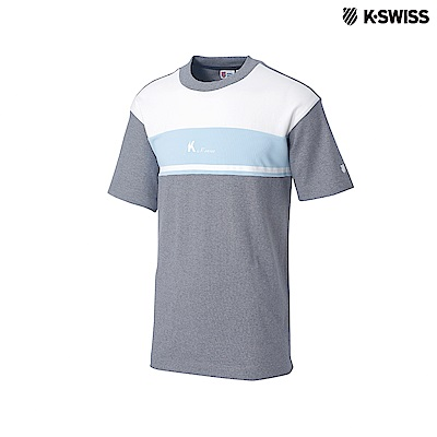 K-Swiss Round Neck T-Shirts印花短袖T恤-男-灰
