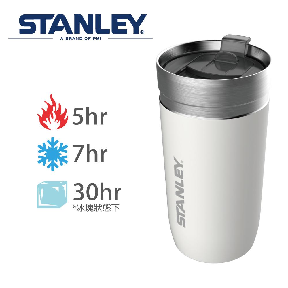 【Stanley】GO 系列單手滑蓋保溫咖啡杯0.47L-雪花白