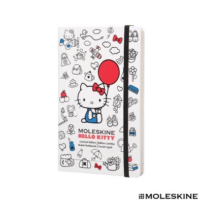 MOLESKINE 限量版 Hello Kitty 凱蒂貓 橫條筆記本 -L