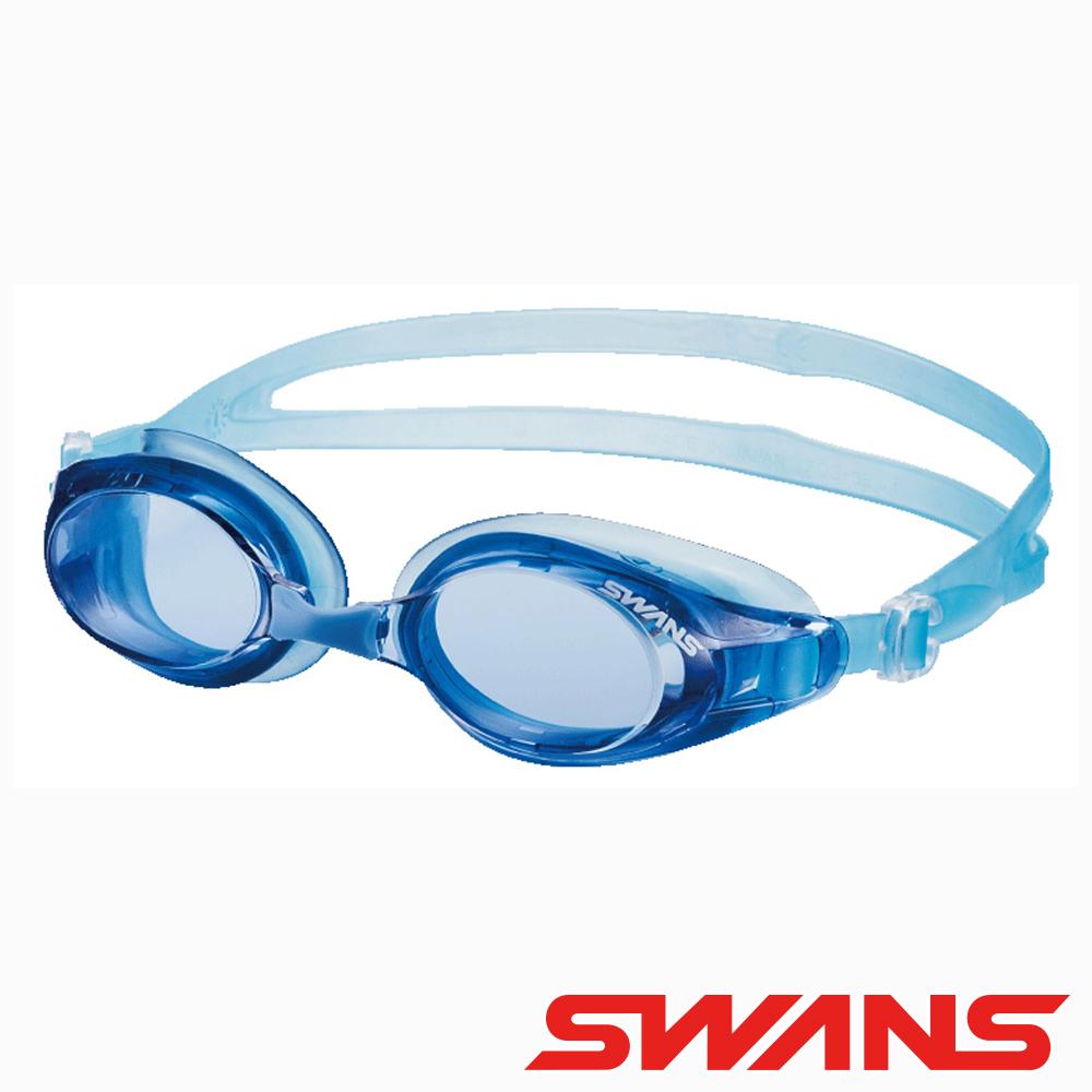 【SWANS 日本】光學通用型泳鏡 防霧/抗UV(SW-32 水藍/藍)