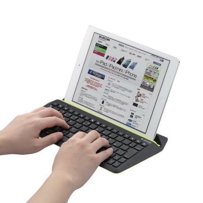 ELECOM-iPad立式藍芽鍵盤