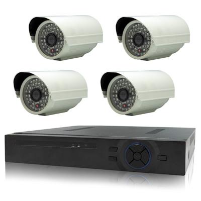 奇巧 4路AHD高清遠端監控套組(雙模切換SONY48燈130萬畫素攝影機x4)
