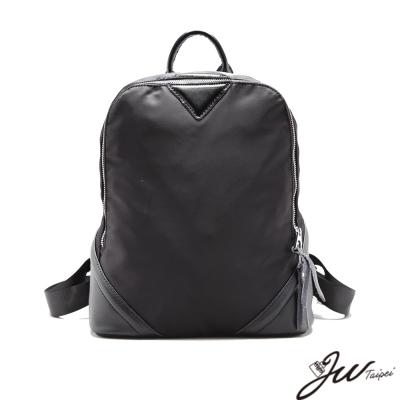 JW-真皮聖羅蘭爵士尼龍手提後背包-共一色