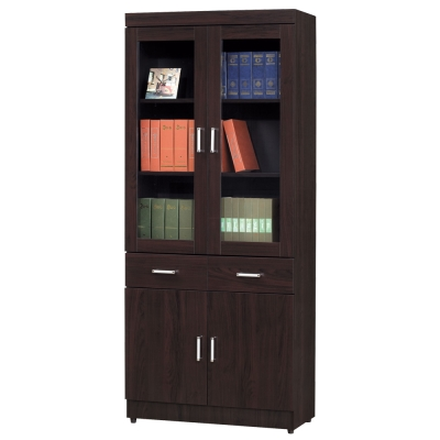 時尚屋 長榮2.6尺中抽書櫃 寬80cm 多色可選